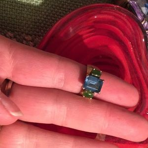 Jewelry - *SOLD NOT AVAILABLE*  14K Gold Topaz, Jade, Ring